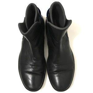Prada Men's Black Blue Belted Slip On Boots
